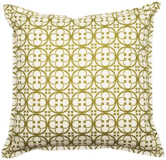 "green betsy 18"" square flanged edge outdoor pillow (t5937)"