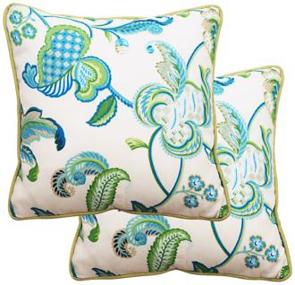 "set of 2 maxine 25"" square welt cording outdoor pillows (t5942)"