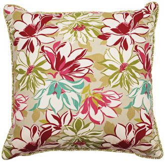 "sarah 18"" square welt cording outdoor pillow (t5943)"