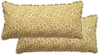 set of 2 floral rectangular welt cording outdoor pillows (t5953)