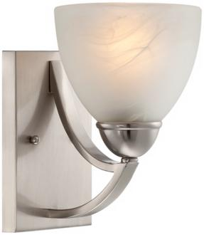 "Possini Euro Milbury 9"" High Marbleized Glass Wall Sconce (T8974) T8974"