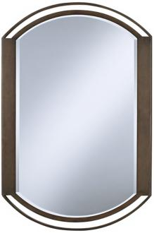 "rounded openwork bronze finish 36"" high wall mirror (u0062)"