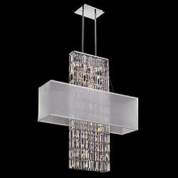 "Danube Crystal Strands 33"" Wide Pendant Chandelier"