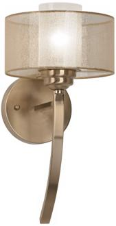 "Possini Euro Design Alecia 8"" Wide French Gold Wall Sconce (U8264) U8264"