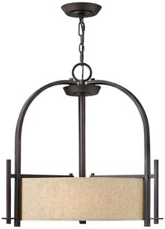 "Hinkley Sloan Collection 24"" Wide Bronze Pendant Light (V3919)"