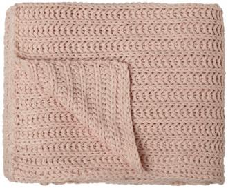 chesterfield pink shell tone decorative throw blanket (v8687)