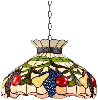 Ripe Fruit 3-Light Tiffany Style Glass Pendant Light (W3142)