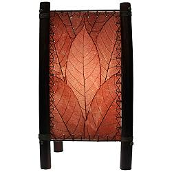 "Eangee 15"" High Fortune Burgundy Accent Lamp"