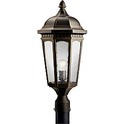 "Kichler Courtyard 23 3/4"" High Bronze Outdoor Post Light"