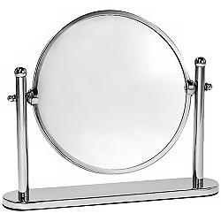 "Gatco Premier Chrome 10 1/2"" x 8 1/4"" Rotating Table Mirror"