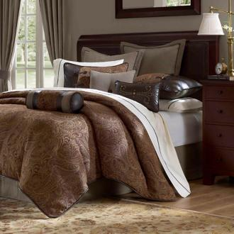 hampton hill drummond 9-piece queen comforter set (x6953)