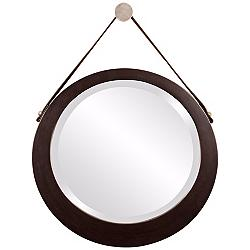"Howard Elliott Bloom 20"" x 19"" Hanging Wall Mirror"