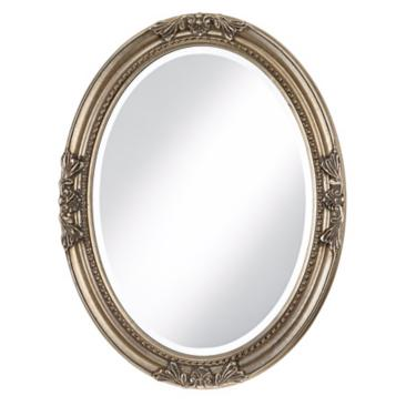 "Emma Antique Silver 25"" x 33"" Oval Wall Mirror"