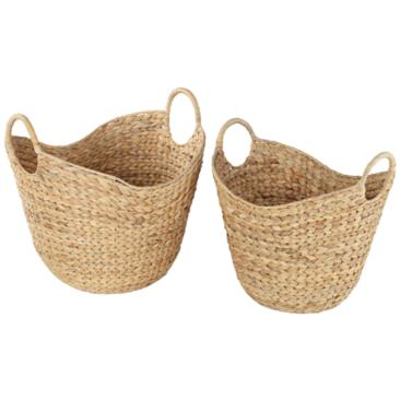 Hyacinth Woven Baskets by Studio 55D - Set of 2