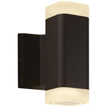 "Lightray 6 3/4"" High Square Bronze 2-LED Outdoor Wall Light"