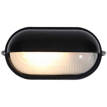 "Nauticus 4 1/4"" High Shaded Black Outdoor Wall Light"