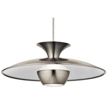 "Elan Scope 15 3/4"" Wide Brushed Nickel LED Pendant Light"