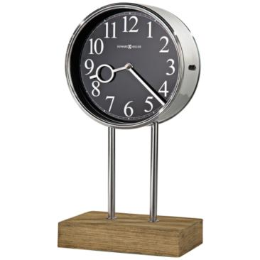 "Howard Miller Baxford 15"" High Polished Steel Mantel Clock"