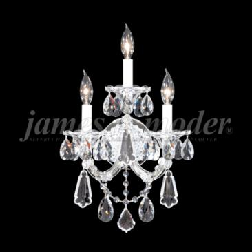 "Maria Theresa Royal 19""H Silver 3-Light Crystal Wall Sconce"