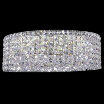 "Contemporary 20"" Wide Silver Round Crystal Ceiling Light"
