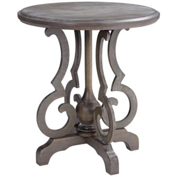"Kensington 24"" Wide Burnished Oak Round Accent Table"
