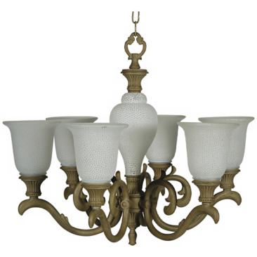 "Milstone Finish 27"" Wide Chandelier"