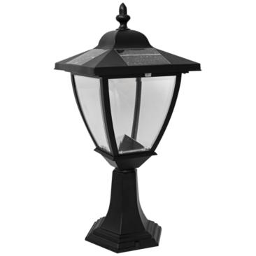 "Elegante 17"" High Black Outdoor Solar LED Pier Mount Light"