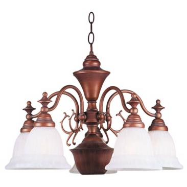 "Burnished Bronze 23 1/2"" Wide Chandelier"