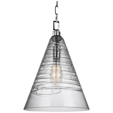 "Feiss Elmore 11 3/4"" Wide Chrome Cone Mini Pendant"