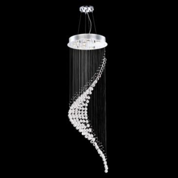 "James Moder Crystal Rain 22"" Wide Silver Entry Chandelier"