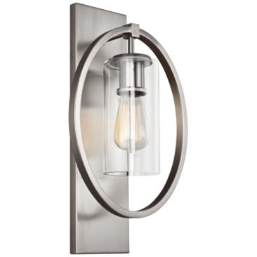 "Feiss Marlena 18"" High Chrome Wall Sconce"
