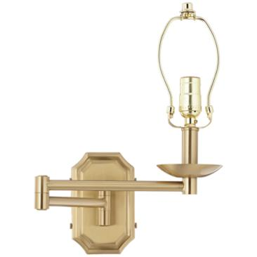 Alta Cut Corner Antique Brass Swing Arm Wall Lamp