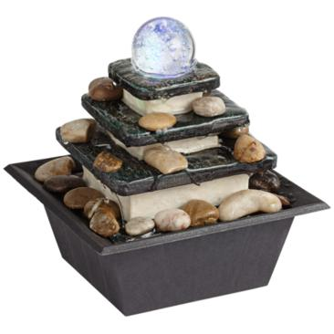 Rolling Ball Three Tier Tabletop Zen Fountain