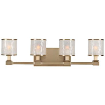 "Destin 26 1/2"" Wide Brushed Bronze 4-Light Bath Light"