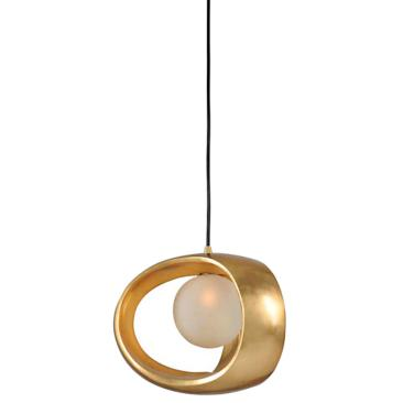 "Calistoga 12"" Wide Gold Leaf Mini Pendant"