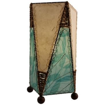 Eangee Trapezoid Sea Blue Hand-Made Paper Accent Table Lamp