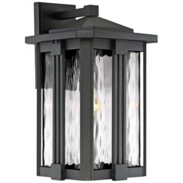 "Quoizel Everglade 18"" High Earth Black Outdoor Wall Light"