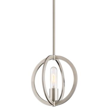 "Quoizel Orion 9""W Brushed Nickel Orbital Round Mini Pendant"
