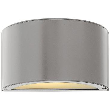 "Hinkley Luna 5"" High Titanium LED Outdoor Wall Light"
