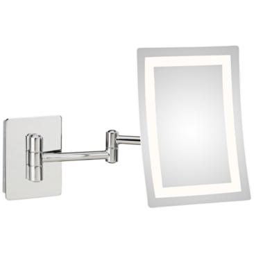 Aptations Ellie Chrome LED Makeup Wall Mirror
