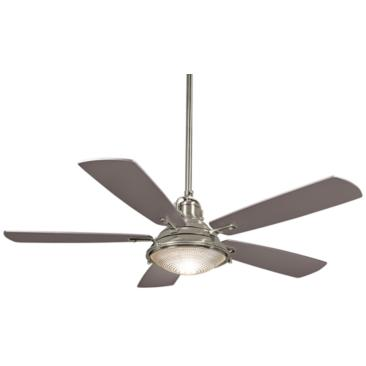 "56"" Minka Aire Groton Brushed Nickel Outdoor Ceiling Fan"
