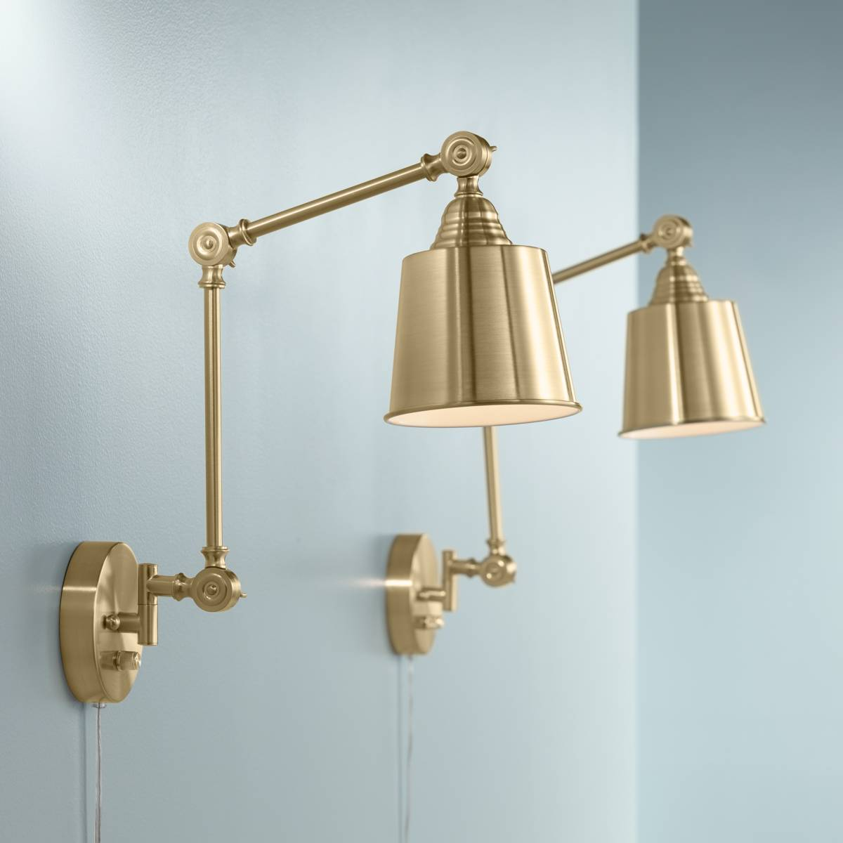 Gold Swing Arm Wall Lamps Lamps Plus
