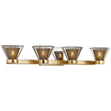 "Wink 27 1/2""W Gold Leaf and Chrome 4-Light LED Bath Light"