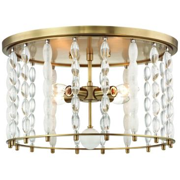 "Whitestone 16 1/2"" Wide Aged Brass 4-Light Ceiling Light"