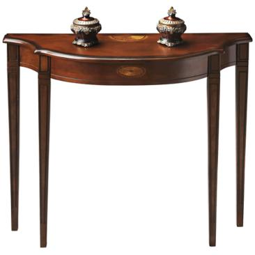 "Plantation 39"" Wide Cherry Finish Traditional Console Table"
