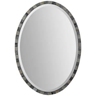 "Uttermost Paredes Antiqued 21"" x 29"" Oval Wall Mirror"