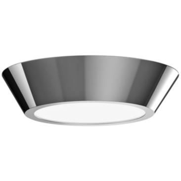 "Sonneman Oculus 10"" Wide Polished Nickel LED Ceiling Light"