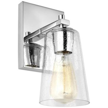 "Feiss Mercer 9"" High Chrome Wall Sconce"