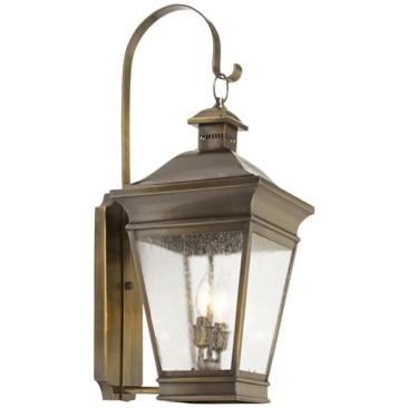 "Reynolds Collection 28"" High Brass Outdoor Wall Light"