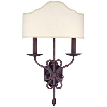 "Seville Collection 22 1/4"" High Weathered Iron Sconce"